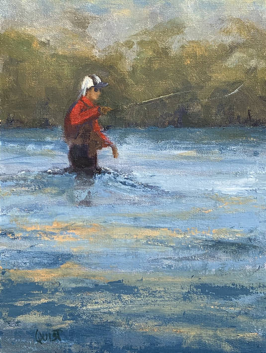 Charlotte Quist painting - On the Beaverhead