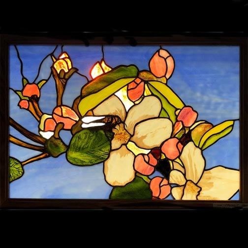 Bee Blossom Stained Glass