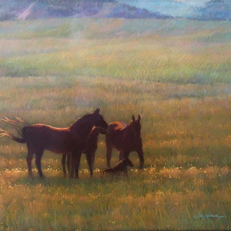 Mares and Foals - Colleen K Howe - Tendoy Fine Art