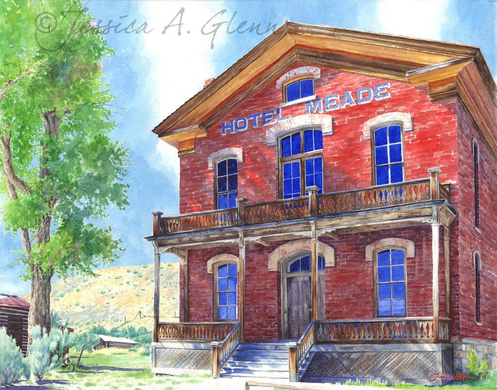 Meade Hotel - Jennifer Glenn - Tendoy Fine Art Gallery