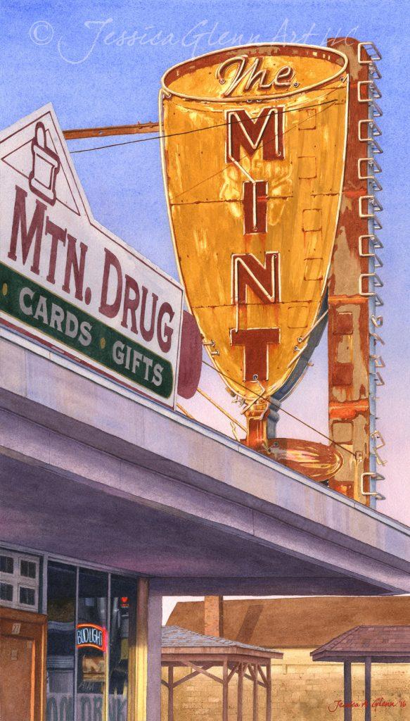 The Mint, White Sulphur Springs - Jennifer Glenn - Tendoy Fine Art Gallery